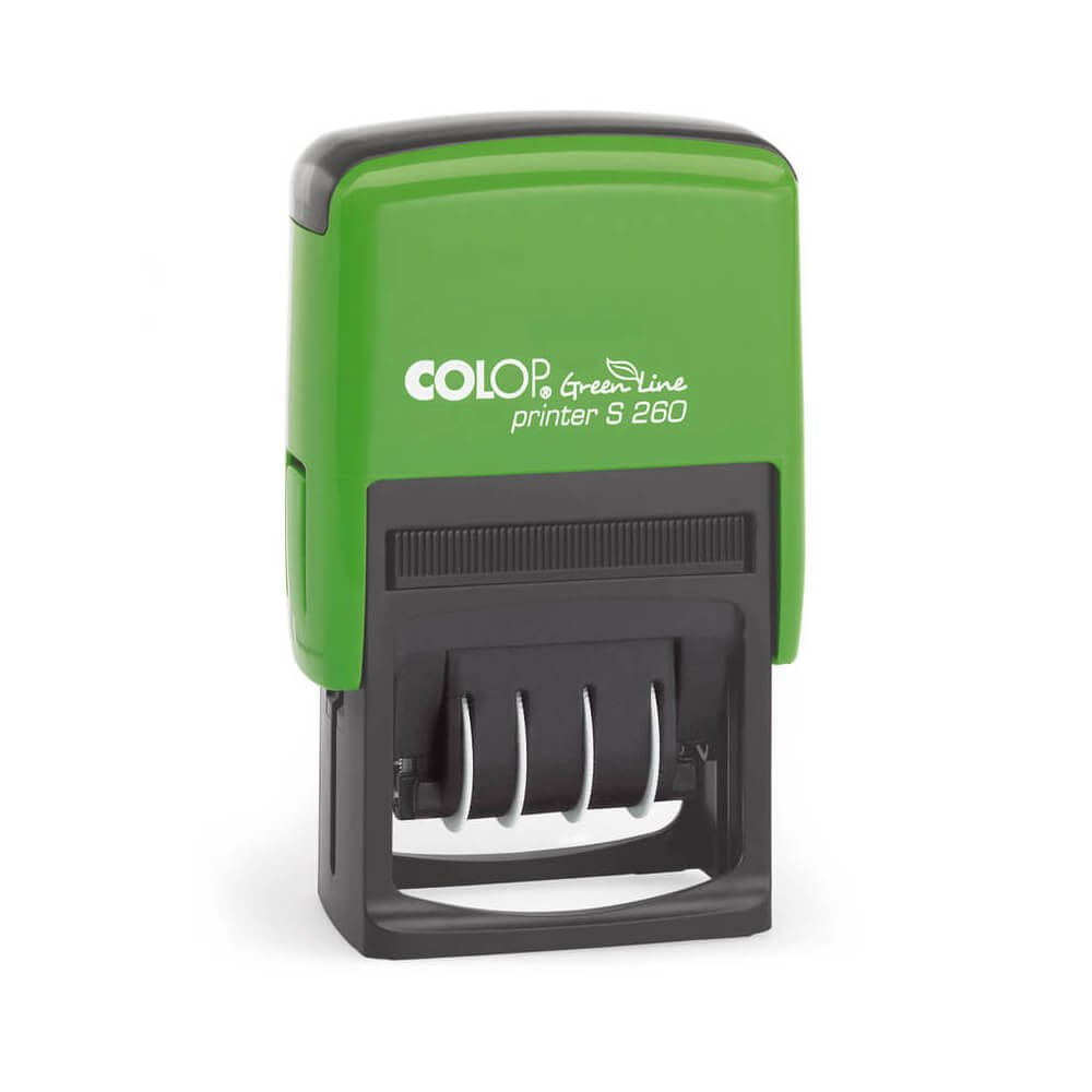 COLOP Printer S 260/L Green Line Dater with stock texts
